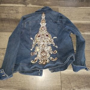 Stage Custom rhinestone embellished jean jacket
